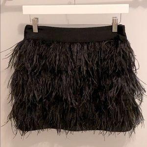 Wells Grace Black Feather Skirt